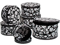 Brocade hat boxes