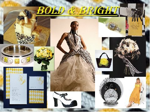 When you think of yellow and black as colors for your wedding theme