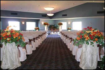 Ceremony Setup at Chenoweth Golf Club in Akron, Ohio.
