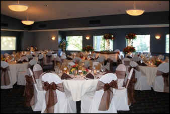 Reception Setup at Chenoweth Golf Club in Akron, Ohio.