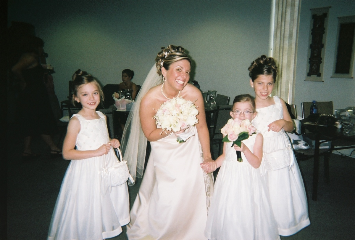 Michelle and her Flower Girls.