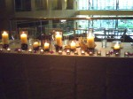 A romantic view of the head table.