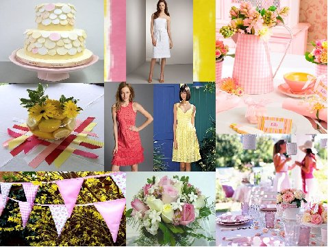 Pink Lemonade Inspiration Board